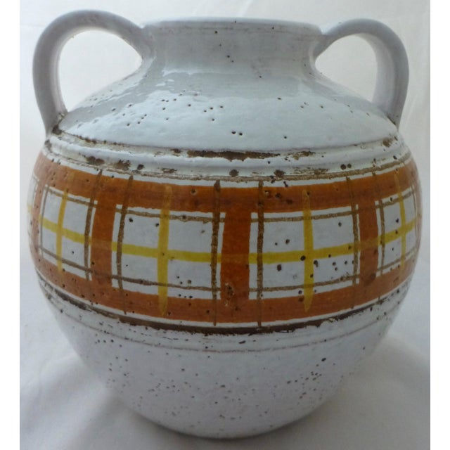 Mid-Century Modern Italian Art Pottery Vase For Sale - Image 4 of 11