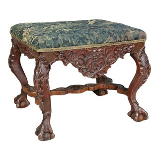 Portuguese Baroque Lacquered Bench For Sale