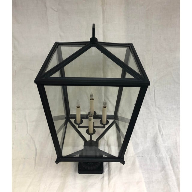 E. F. Chapman Darlana Bronze Post Lantern by Visual Comfort and Co. - Showroom Sample Outdoor 4-light post lantern with...