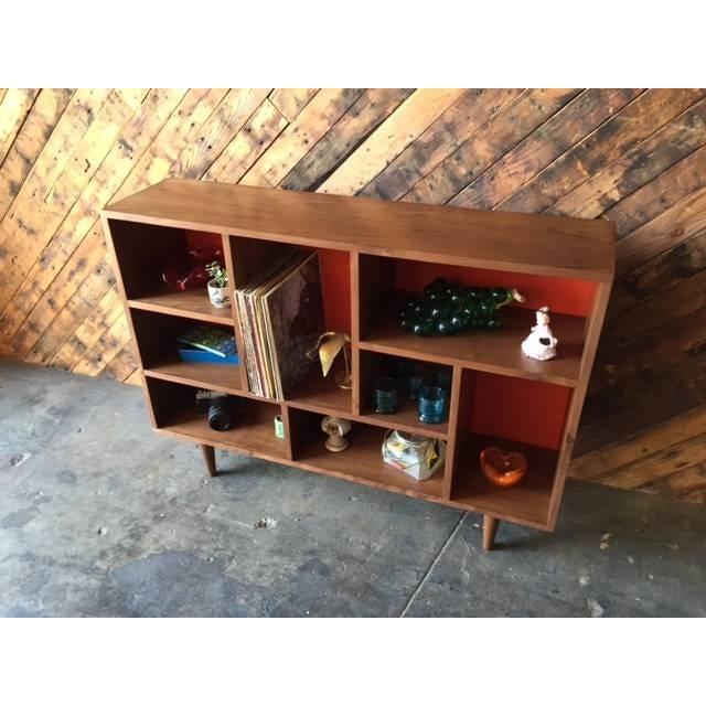 Mid Century Style Walnut Bookshelf - Image 3 of 5