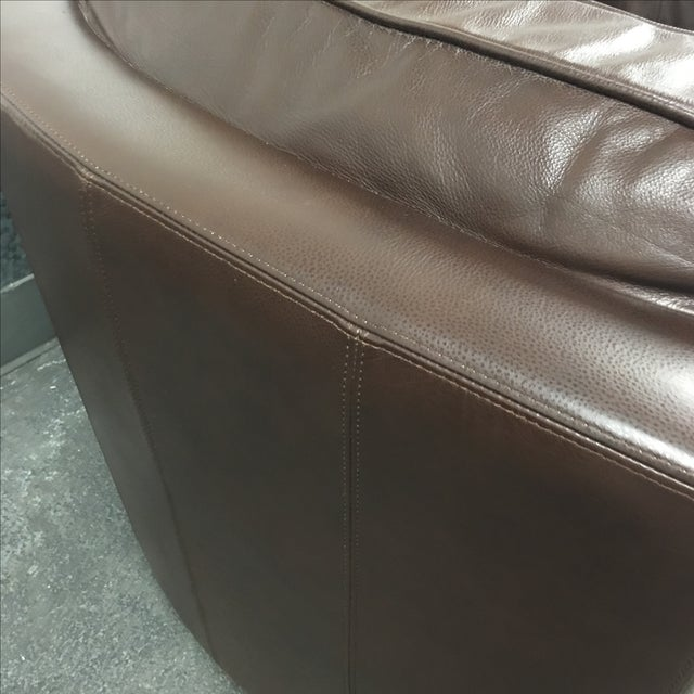 Leather Arc Sofa - Image 6 of 9