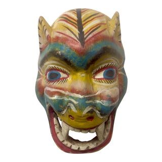 Early 20th Century Oaxaca Jaguar Mask For Sale