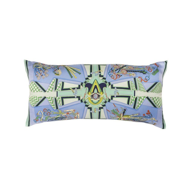 """Contemporary """"Bouquets Selliers"""" Hermès Silk Scarf Pillow For Sale - Image 3 of 3"""