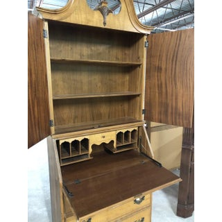 Antique Bird's Eye Maple Carved Drop Front Secretary With Bookcase Preview