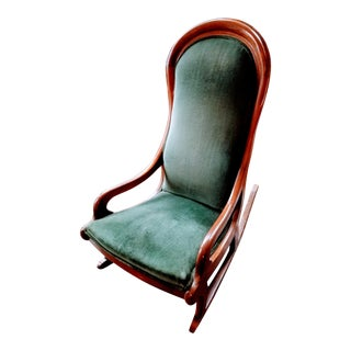 Mid 19th Century American Empire Mahogany Rocking Chair For Sale