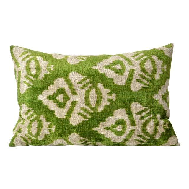 LeBlang Silk Velvet Ikat Pillow - Image 1 of 2