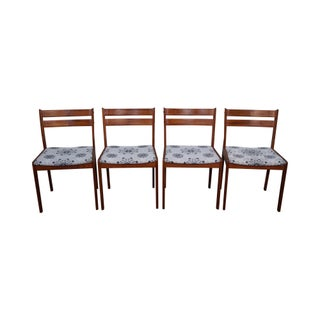 Uldum Mobelfabrik Teak Danish Modern Dining Chairs - Set of 4 For Sale