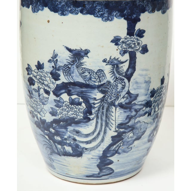 Blue Chinese Blue and White Planters - A Pair For Sale - Image 8 of 13