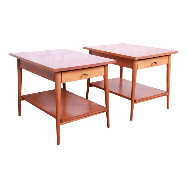 Paul McCobb Planner Group Mid-Century Modern Nightstands or End Tables - a Pair For Sale