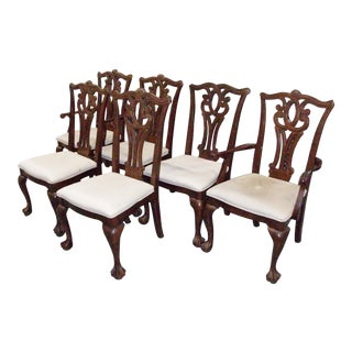 Universal Furniture Company Chippendale Style Dining Chairs - Set of 6 For Sale