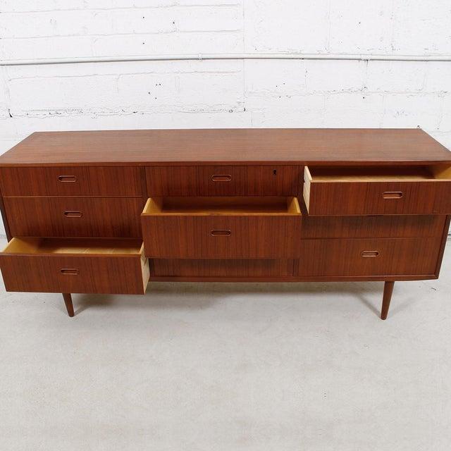 Falster Danish Modern Nine-Drawer Teak Dresser - Image 6 of 10
