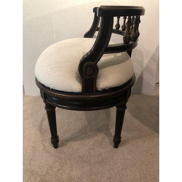 Cotton Butler Specialty Company Artists Originals Café Noir Vanity Seat For Sale - Image 7 of 13