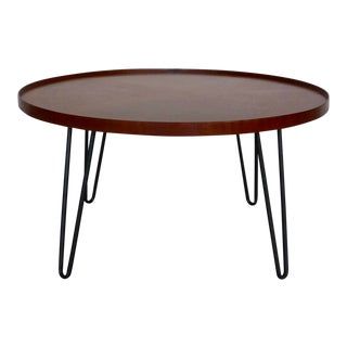 Mid-Century Modern Inspired Hairpin Coffee Table For Sale
