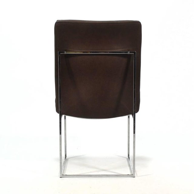 Milo Baughman Set of Six Dining Chairs by Thayer Coggin For Sale - Image 9 of 10