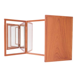 Danish Teak Tri-Fold Wall Mirror by Kai Kristiansen for Aksel Kjersgaard For Sale