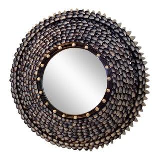 Mussel Beach Coquillage Round Mirror