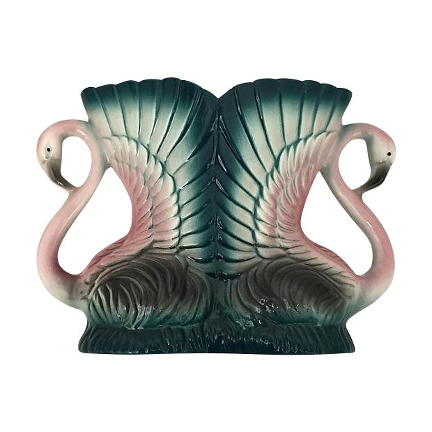 Double Flamingo Vanity Vase - Image 1 of 6