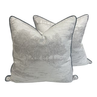 Travers Central Park Toile Pillow Covers - a Pair For Sale