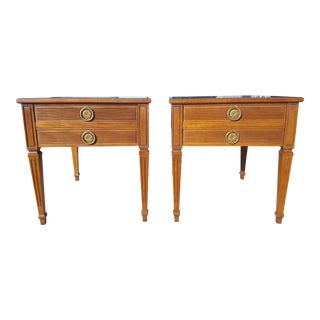 Set of 2- Vintage Henredon Fine Furniture Walnut End Tables