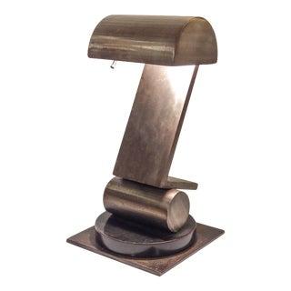 Sculptural Steel Desk Lamp For Sale