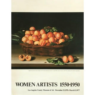 "1976 Vintage Basket of Apricots ""Women Artists 1500-1950"" Lacma Louise Moillon Exhibition Poster For Sale"