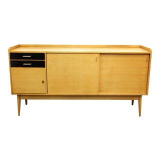 Maurice Pre French Mid-Century Modern Oak Credenza For Sale
