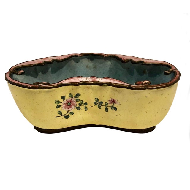 Late 19th Century Late 19th Century Chinese Enamel Catchall Dish For Sale - Image 5 of 8