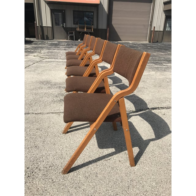 Mid-Century Modern Folding Chairs - Set of 6 For Sale - Image 5 of 8