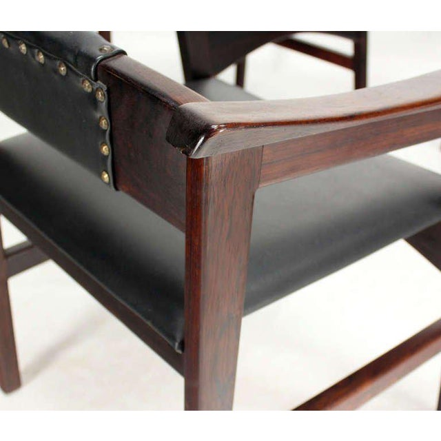 1960s Vintage Danish Mid-Century Modern Rosewood Dining Chairs - Set of 4 For Sale - Image 9 of 11