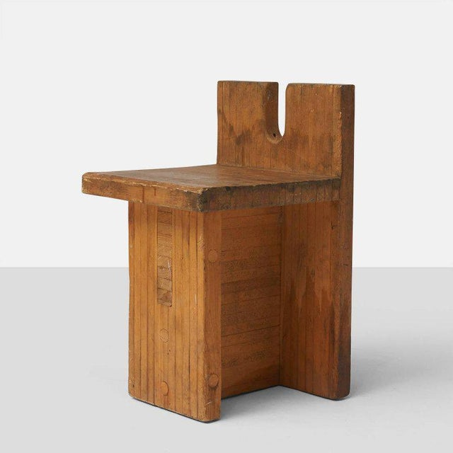 Pine Side Chair by Lina Bo Bardi For Sale - Image 7 of 7