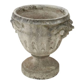 Large English Garden Stone Urn or Planter on Raised Base For Sale
