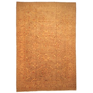 Late 20th Century Hand-Knotted Wool Pakistani Rug - 11′8″ × 17′5″ For Sale