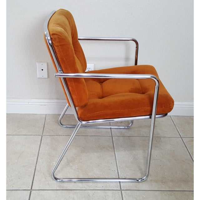 Vintage 1970s Mid Century Modern ChromeCraft Corp Chairs - Set of 3 For Sale - Image 9 of 13