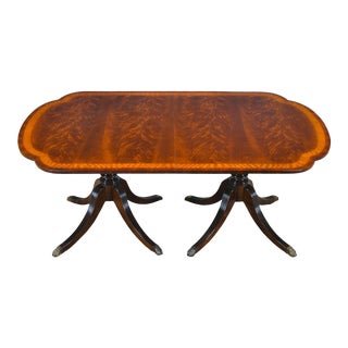Traditional Scalloped Corner Mahogany Dining Table For Sale