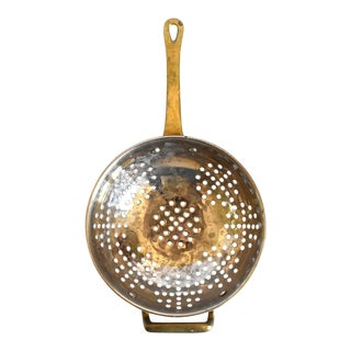 Vintage Copper Small Berry Colander Strainer For Sale