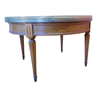 Vintage Marble Top Coffee Table For Sale