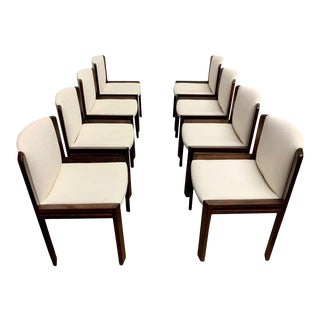 Vintage Joe Colombo '300' Dining Chairs for Pozzi - Set of 8 For Sale