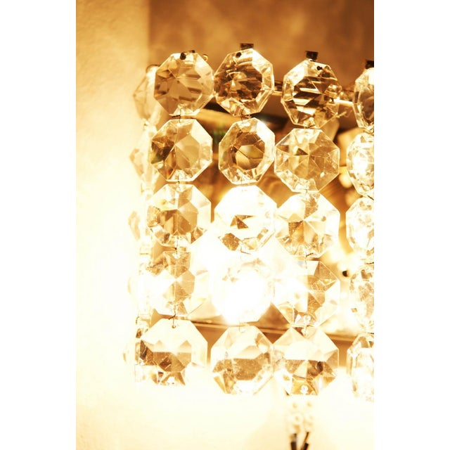 Bakalowits & Sohne Vintage Crystal Wall Lamp from Austria by Bakalowits, 1960s For Sale - Image 4 of 8