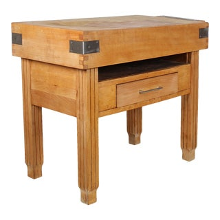 Vintage French Butcher Block For Sale