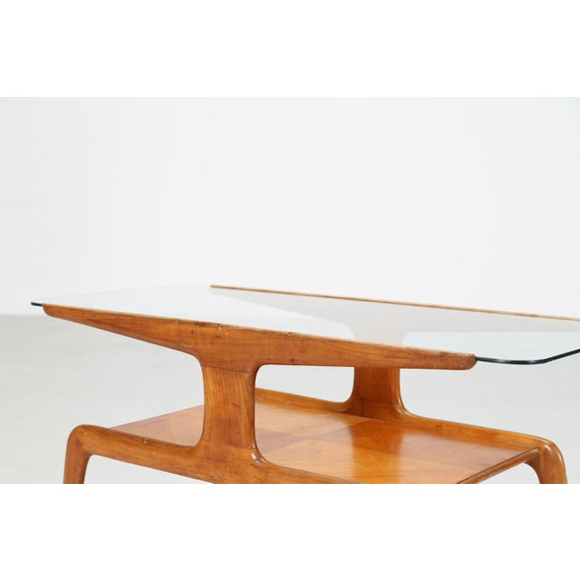 Gio Ponti Coffee Table in Ash and Glass Top For Sale - Image 6 of 9