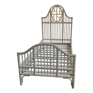 Serena & Lily Cassia Rattan Bed For Sale