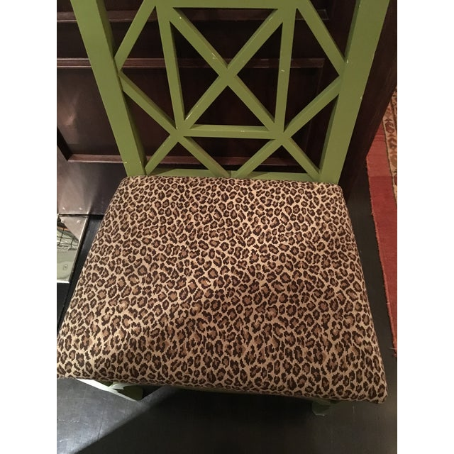 Custom Chinese Chippendale Green Chairs - Set of 10 - Image 10 of 11