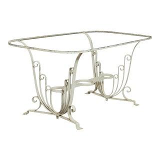Salterini Wrought Iron Art Deco Garden or Patio Dining Table For Sale