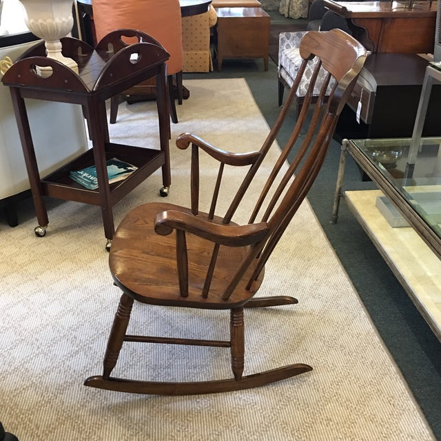 Vintage S. Bent & Bros. Rocking Chair For Sale - Image 4 of 11