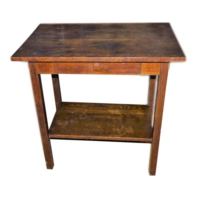 19th century walnut single drawer side table chairish for Table th width