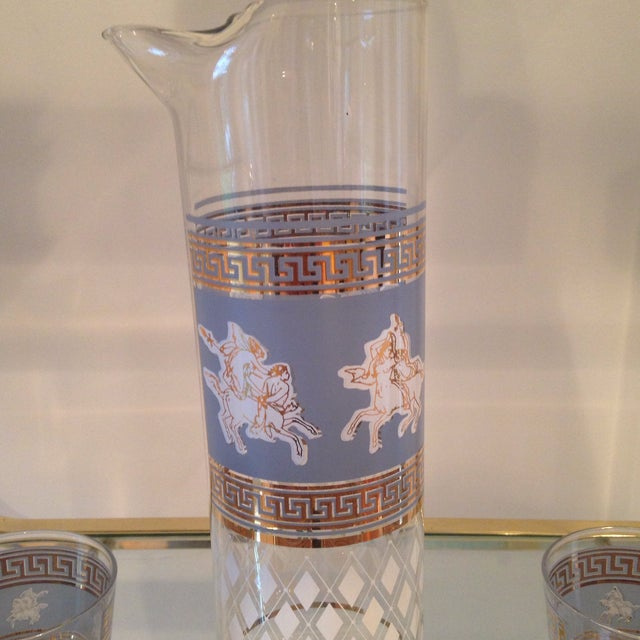 Mid-Century Greek Cocktail Glasses - Set of 6 - Image 4 of 6