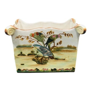 Chinese Porcelain Parrot Planter For Sale