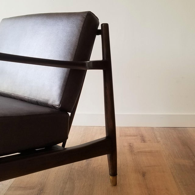 Wood 1960s Newly Upholstered Folke Ohlsson Lounge Chair For Sale - Image 7 of 13