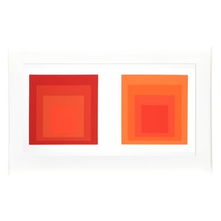 Josef Albers - Portfolio 2, Folder 28, Image 1 Framed Silkscreen For Sale