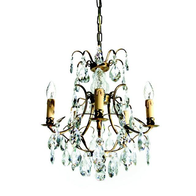 Baroque chandelier 5 cognac electrical candles chairish baroque chandelier 5 cognac electrical candles aloadofball Images